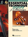Essential Technique 2000 for Strings. (Cello). For Cello. Essential Elements. Softcover with CD. 48 pages. Published by Hal Leonard.  Book 3 of the Essential Elements 2000 for Strings series, Essential Technique 2000 includes exercises for the higher positions and shifting, along with scales, bowings and special techniques. Also includes theory, history, multicultural music, creativity and assessment, along with sight-reading and rhythm pages. All this PLUS a CD with more great play-along tracks.