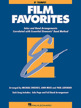 Film Favorites - Bb Trumpet (Trumpet). Arranged by John Moss, Michael Sweeney, and Paul Lavender. For Concert Band, Trumpet. Hal Leonard Essential Elements Band Folios. Movies and Instructional. Grade 1-1.5. Instrumental solo/ensemble book. Solo part, harmony part and standard notation. 24 pages. Published by Hal Leonard.  As a follow up to the popular Movie Favorites, this eagerly awaited new collection features the hottest movie themes arranged for full band or individual soloists (with optional accompaniment CD - 860139). In the student books, each song includes a page for the full band arrangement as well as a separate page for solo use. Includes Pirates of the Caribbean * My Heart Will Go On * The Rainbow Connection * and more.