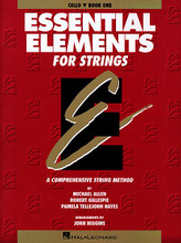 Essential Elements for Strings - Book 1 (Cello) arranged by John Higgins. For Cello. Essential Elements String Method. Instructional. Method book. Instructional text and illustrations. 48 pages. Published by Hal Leonard.  Tailored to beginning students, Essential Elements for Strings Book 1 covers techniques such as instrument position, fingerings, and bowings while incorporating theory and history lessons throughout. Features a broad scope, comprehensive detail, great pacing, thorough reinforcement, and much more!