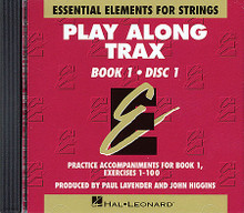 Essential Elements for Strings - Book 1 (CDs only) - Play Along Trax. For Orchestra. Essential Elements String Method. Play Along. Accompaniment CDs only (2-disc set). Published by Hal Leonard.  Original series (red cover). Arrangements by John Higgins.  Tailored to beginning students, Essential Elements for Strings Book 1 covers techniques such as instrument position, fingerings, and bowings while incorporating theory and history lessons throughout. Features a broad scope, comprehensive detail, great pacing, thorough reinforcement, and much more! (Includes HL.860005 and HL.860006).
