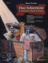 Duo-Schatzkiste (A Treasure Chest of Duos) (Cello Duet Performance Score). Edited by Elmar Preuer. String. Softcover. 80 pages. Schott Music #ED21386. Published by Schott Music.  Over fifty original works from the Baroque to the Modern era, presented in progressive order of difficulty. Includes music by Gabrielli * Haydn * Mozart * Offenbach * Bartók * and others.