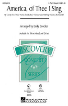 America, of Thee I Sing ((Medley) Discovery Level 2). Arranged by Emily Crocker. For Choral, Band with Choir (3-Part Mixed). Discovery Choral. 12 pages. Published by Hal Leonard.  You'll have a Yankee Doodle good time with this flag waving medley that's red, white and blue, through and through! Combine your choirs with concert band (Grade 3) and strings for a concert finale that will bring your audience to its feet. Includes: America, the Beautiful * My Country, 'Tis of Thee (America) * Yankee Doodle Boy * You're a Grand Old Flag. Discovery Level 2 Performance Time: Approx. 2:20. Available separately: 3-Part Mixed, 2-Part, Concert Band Accompaniment Grade 3, String Pak and VoiceTrax CD.  Minimum order 6 copies.