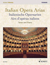 Italian Opera Arias (Tenor). By Various. Edited by Francesca Licciarda. For Vocal. Vocal Collection. Softcover. 120 pages. Schott Music #ED21422. Published by Schott Music.  Newly engraved and edited aria collections. Soprano edition includes 18 arias by Mozart * Donizetti * Bellini * Verdi * Puccini * and others. Tenor edition includes 25 arias by Mozart * Rossini * Donizetti * Verdi * Puccini * and others.
