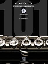 101 Flute Tips (Stuff All the Pros Know and Use). For Flute. Instructional. Softcover with CD. 64 pages. Published by Hal Leonard.  Tips, suggestions, advice and other useful information garnered through a lifetime of flute study and professional gigging are all presented in this book with dozens of entries gleaned from first-hand experience. Topics covered include: selecting the right flute for you • finding the right teacher • warm-up exercises • practicing effectively • taking good care of your flute • gigging advice • staying and playing healthy • members of the flute family • extended ranges and techniques • and flute fraternization.