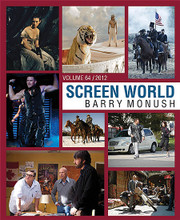 Screen World Volume 64 (The Films of 2012). Edited by Barry Monush. Applause Books. Hardcover. 472 pages. Published by Hal Leonard.  Movie fans eagerly await each new edition of Screen World, the definitive record of the cinema since 1949. Volume 64 provides an illustrated listing of every significant American and foreign film released in the United States in 2012, documented with more than 1,000 black-and-white photographs.  This new edition of Screen World highlights Ben Affleck's triumphant true-life drama, Argo, which managed to take home the Best Picture Oscar, even without Affleck receiving a directorial nomination; Daniel Day-Lewis's career-crowning performance as Lincoln, which made him the first three-time Best Actor Oscar-winner * Bradley Cooper and Oscar-winner Jennifer Lawrence in the effective Silver Linings Playbook * Quentin Tarantino's incendiary and highly entertaining Django Unchained, featuring Best Supporting Actor Christoph Waltz * the rousing adaptation of the stage musical Les Misérables, with Anne Hathaway in her Oscar-winning role * the year's top box office sensation Marvel's The Avengers * the final chapter of the Christan Bale Batman trilogy, The Dark Knight Rises * Tim Burton's delightful, black and white stop-motion feature Frankenweenie * Ang Lee's visually dazzling Life of Pi, set mostly on a lifeboat * and the 50th anniversary entry in the still potent James Bond saga, Skyfall.