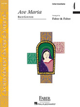 Ave Maria (Intermediate/Level 4 Piano Solo). By Johann Sebastian Bach (1685-1750) and Charles Francois Gounod (1818-1893). Arranged by Nancy Faber and Randall Faber. For Piano/Keyboard. Faber Piano Adventures. Sacred. Intermediate/Level 4. 4 pages. Faber Piano Adventures #ASA7005. Published by Faber Piano Adventures.  An expressive, pianistic arrangement of this timeless piece. Features arpeggiated left-hand figures and a cantabile melody.