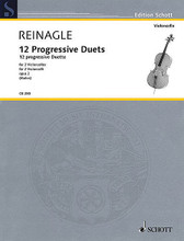 12 Progressive Duets, Op. 2 (Two Cellos Performance Score). By Joseph Reinagle. Edited by Rainer Mohrs. For Cello Duet. String. Softcover. 40 pages. Schott Music #CB250. Published by Schott Music.  Tuneful duets well-suited to teaching and student performance. Based on the first edition, including original bowing and phrasing.