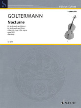 Nocturne in G Major, Op. 125, No. 1 (Violoncello and Piano). By Georg Goltermann. Edited by Fritz Zumkley. For Cello, Piano Accompaniment. String. Softcover. Schott Music #CB249. Published by Schott Music.  Goltermann (1824-1898) left a plethora of works for his instrument, including seven cello concertos which sometimes go to the limitsof what was considered to be technically playable in his time. Even today, these works have maintained their importance throughout the methodological progress in literature. Apart from the concertos, Goltermann also composed a large number of character pieces, including romances, reveries, nocturnes and serenades. Stylistically wholly rooted in the Romantic spirit of their time, the pieces are relatively short and of medium difficulty as regards the technical demands. It is not least due to their melodic and harmonic catchiness that they enjoy a lasting popularity both in music lessons and in domestic concerts.