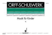 Musik für Kinder (German Language). By Carl Orff (1895-1982) and Gunild Keetman. For Orff Instruments. Schott. Score for Voice and/or Instruments. 128 pages. Schott Music #ED4451. Published by Schott Music.