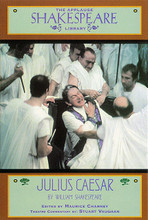 Julius Caesar (The Applause Shakespeare Library). Applause Books. Softcover. 166 pages. Applause Books #1557831831. Published by Applause Books.  These popular editions allow the reader and student to look beyond the scholarly reading text to the more sensuous, more collaborative, more malleable performance text which emerges in conjunction with the commentary and notes. Each note, each gloss, each commentary reflects the stage life of the play with constant reference to the challenge of the text in performance. Readers will not only discover an enlivened Shakespeare, they will be empowered to rehearse and direct their own productions of the imagination in the process.  Shakespeare's shortest play tells the story of Julius Caesar and Marcus Brutus, who, fearing the possibility of a dictator-led empire, betrays Caesar to protect Rome. Little does he know that Cassius has been holding the strings, manipulating Brutus into exploiting Caesar's weakness and removing him from power with the help of fellow conspirers. Contemplating motives for murder, national allegiance, and divine right, Shakespeare's Julius Caesar is a unique look at the true events surrounding Caesar's assassination in 44 B.C.