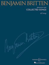 Benjamin Britten - Collected Songs (Medium/Low Voice (60 Songs)). By Benjamin Britten (1913-1976). Arranged by Richard Walters. For Vocal. Boosey & Hawkes Voice. 302 pages. Boosey & Hawkes #M051933983. Published by Boosey & Hawkes.  60 songs, with extensive historical introductory notes. Includes all art songs originally composed for voice and piano published by Boosey & Hawkes. The content is the same for the High Voice and Medium/Low Voice volumes, with newly published transpositions as necessary.  Contents: The Birds • A Charm of Lullabies (5 songs) • Evening, Morning, Night • Fish in the Unruffled Lakes (6 songs) • The Holy Sonnets of John Donne (8 songs) • On This Island (5 songs) • Sechs Hölderlin Fragmente (6 songs) • Seven Sonnets of Michelangelo) • Songs from the Chinese (6 songs, transcribed for voice and piano) • Winter Words (8 songs plus 2 songs cut from the cycle) • Two Ballads (duets).