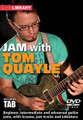 """Jam with Tom Quayle by Tom Quayle. For Guitar. Lick Library. DVD. Guitar tablature. Lick Library #RDR0447. Published by Lick Library.  This superb DVD contains three top quality backing tracks, and can be approached in two ways, first you can """"jam"""" with the tracks flying solo, experimenting with different ideas, licks and solos. Alternatively you can trade solos with Tom, drawing inspiration from the ideas and techniques used in his solos. Each track has three performances from Tom working across three levels of difficulty. Although the solos are improvised he has taken care to go for a basic intermediate and advanced level for each track. All the solos are transcribed and are available in pdf form along with the lessons. On screen graphics with chords and scales are provided when it's your turn to jam."""