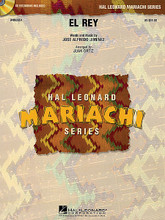 """El Rey by Jose Alfredo Jimenez and Jos. Arranged by Juan Ortiz. For Mariachi Band (Score & Parts). Hal Leonard Mariachi Series. Grade 3. Published by Hal Leonard.  Arranged in the style of a ranchera valseada (waltz), El Rey (""""The King"""") alternates between two styles and features lovely melodies. Very playable.  Hal Leonard Mariachi Series  • Each arrangement includes a professionally recorded demonstration CD  • Scored for Violins, Trumpets, Armonia, Guitarron and Vocal  • Instrumentation options for Flutes, Guitar and Bass."""