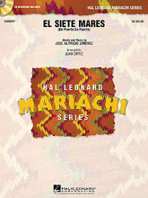 "El Siete Mares (De Puerto en Puerto) by Jose Alfredo Jimenez and Jos. Arranged by Juan Ortiz. For Mariachi Band (Score & Parts). Hal Leonard Mariachi Series. Grade 3. Published by Hal Leonard.  Written in the distinctive style ""huapango ranchera"" originating from the regions of Veracruz and Tamaulipas, Mexico, this arrangement includes striking rhythmic figures and a lively tempo.  Hal Leonard Mariachi Series  • Each arrangement includes a professionally recorded demonstration CD  • Scored for Violins, Trumpets, Armonia, Guitarron and Vocal  • Instrumentation options for Flutes, Guitar and Bass."