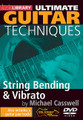 String Bending & Vibrato (Ultimate Guitar Techniques Series). For Guitar. Lick Library. DVD. Lick Library #RDR0439. Published by Lick Library.  This superb DVD explores the very important techniques of string bending and vibrato, and the mechanics involved to achieve a more professional sound to your playing. With clear step-by step-instruction, Michael shows the do's and don'ts of what's needed and then explores ideas derived from rock, country, blues and even whammy bar usage. Lessons are for beginner, intermediate and advanced players. This DVD comes complete with a backing track and a performance which is broken down note for note, so that you can use each idea in your own playing.