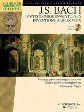 Two-part Inventions German/French Edition Bk/CD Schirmer Performance Editions. Book with CD. 52 pages. Published by G. Schirmer.