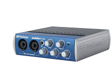 AudioBox(TM) 22VSL (Advanced 2x2 USB 2.0 Recording System with Real-Time Monitoring Effects). Hardware. General Merchandise. Published by Hal Leonard.  Think of the 2-in, 2-out AudioBox™ 22VSL as a 2x2 StudioLive™ mixer! Same Class A XMAX™ preamps and 24-bit, 96 kHz converters. Same Fat Channel compression, limiting, semi-parametric EQ, and high-pass filter- all with inaudible latency-plus reverb and delay effects. Now you can monitor while recording with real-time effects! Bus-powered, compact, and rugged, AudioBox 22VSL ships with PreSonus Studio One® Artist DAW (Mac®/Windows®) but works with virtually any recording software.