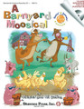 A Barnyard Moosical (Singin' & Swingin' at the K-2 Chorale Series). By Michael Gallina and Jill Gallina. For Choral (CLASSRM KIT). Shawnee Press. Children's Musical; Choral. 48 pages. Shawnee Press #GN0118. Published by Shawnee Press.  The Singin' and Swingin' at the K-2 Chorale Series includes easy-to-stage mini-musicals specifically designed for primary-age students. The songs, scripts, costumes, and staging suggestions for the series provide a number of performance options that accommodate a wide range of skills extending from kindergarten through second grade, and may even be extended to third grade as well.  In A Barnyard Moosical, a hilarious and imaginative mini-musical, we meet a unique and talented group of animals living at this unusual farm. Between the gourmet goats that refuse to eat garbage, a chorus line of hoofing cows, neatnik pigs and funky dancing chickens, the musical will be sure to tickle the imagination and funny bone of performers and audiences alike. This kit contains the director's score, reproducible student parts, and an Enhanced StudioTrax CD that includes an event poster, program, artwork elements and a personal note to the director/teacher from the Gallinas. Duration: ca. 15 minutes. Grades K-2.