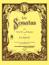 Six (6) Sonatas by Johann Sebastian Bach (1685-1750). Arranged by John Wummer. For Flute. Woodwind Solos & Ensembles - Flute Collection. Southern Music. Baroque. Grade 3. Set of performance parts. 94 pages. Southern Music Company #B433. Published by Southern Music Company.  One of the most important collections of flute repertoire available today. It contains six of the most widely performed Sonatas composed by Johann Sebastian Bach (1685-1750). They have been skillfully edited by Jean Albert de la Tournerie and John Wummer.