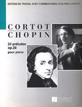 24 Preludes, Op. 28 - Student Edition (Piano Solo). By Frederic Chopin (1810-1849). Edited by Alfred Cortot. For Piano. This edition: French edition. Piano Large Works. SMP Level 9 (Advanced). 82 pages. Editions Salabert #SEMS5049. Published by Editions Salabert.  About SMP Level 9 (Advanced)   All types of major, minor, diminished, and augmented chords spanning more than an octave. Extensive scale passages.