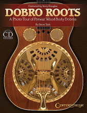 "Dobro Roots (A Photo Tour of Prewar Wood Body Dobros). Reference. Hardcover with CD. 216 pages. Published by Centerstream Publications.  Welcome to the world of prewar wood body dobro! This book will show a variety of Dobro guitars produced during the years 1929 through approximately 1942. It is a ""photographic tour"" showing actual examples of many of the models produced during this period."