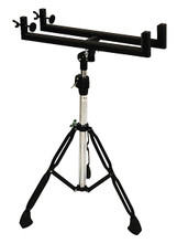 Cajon Stand (Black). For Percussion. Tycoon. Tycoon Percussion #TKS-B. Published by Tycoon Percussion.  Easy to assemble and disassemble, this stand fits any standard cajon. The double-braced legs and rubber feet provide enhanced stability. The stand is height adjustable to fit any player's needs.