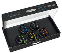 Direct Sound EXJH-255 for JamHub BedRoom System (Extreme Isolation Headphone Kit (EX-25 5-Pack)). Accessory. General Merchandise. Hal Leonard #EXJH255. Published by Hal Leonard.  For the most organized JamHub headphone system, these color-coded multi-packs match every unique color that the JamHub unit uses so one can easily recognize what section belongs to which musician. The EX-25 Extreme Iso Headphone from Direct Sound are super comfortable and sound great. They feature a lightweight design with the ground-breaking IncrediFlex headband – with memory, that allows the player to wear these comfortably for hours. They feature TruSound Tonal Accuracy for superior non-hyped audio fidelity and are environmentally sound with battery-free technology and parts that are easily replaced or repaired. Includes the protective case that the phones neatly fold up into. This is the best way for musicians and students to connect to the JamHub Systems!
