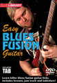 Easy Blues Fusion Guitar for Guitar. Lick Library. DVD. Guitar tablature. Lick Library #RDR0453. Published by Lick Library.  Start taking your blues playing to the next level with an injection of jazz and practical theory! This excellent DVD draws from the styles of legendary artists such as Larry Carlton and Robben Ford. We'll look at 30 licks in great detail (across 3 positions) which are not only taught note for note, but explained in a way that will not just show you where to play, but focusing in on exactly why we're playing that particular note in relation to the chord. The DVD also includes tab which features all the licks, improvisation and diagrams to really help you get this under your fingers fast. It also looks at scale and arpeggio shapes in a selection of CAGED positions, and digs down into the sound of the dominant 7 chord and much more to massively improve your blues fusion techniques.