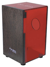 29 Series Cherry Red Acrylic Cajon With Black Makah Burl Front Plate for Cajons. Tycoon. Tycoon Percussion #TKXCR-29. Published by Tycoon Percussion.