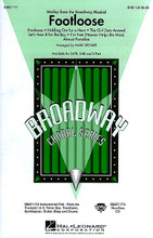 """Footloose (Medley from the Broadway Musical) arranged by Mark A. Brymer. For Choral (SAB). Broadway Choral. 40 pages. Published by Hal Leonard.  Put on your dancing shoes and """"cut footloose!"""" with this high-energy medley from the Broadway musical. A fabulous show choir feature! Includes: Almost Paradise * Footloose * The Girl Gets Around * Holding Out for a Hero * I'm Free (Heaven Helps the Man) * Let's Hear It for the Boy. Available: SATB, SAB, 2-Part, Instrumental Pak, ShowTrax CD. Performance Time: Approx. 10:00."""