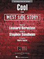 """Cool (from West Side Story) by Leonard Bernstein (1918-1990) and Stephen Sondheim (1930-). Arranged by Mark Taylor. For Jazz Ensemble (Score & Parts). Young Jazz (Jazz Ensemble). Grade 3. Score and parts. Published by Hal Leonard.  From one of the most famous musicals of all time, here is the swingin' and aptly titled """"Cool."""" Mark's version for young players remains true to the original but adds a touch of contemporary flair with the melody passed from section to section and solo space for trumpet. Timeless!"""