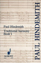 Traditional Harmony Book 1 by Paul Hindemith (1895-1963). Schott. Softcover. 126 pages. Schott Music #ED11334. Published by Schott Music.  Originally published in the 1940s, Paul Hindemith's remarkable textbooks are still the outstanding works of their kind. In contrast to many musical textbooks written by academic musicians, these were produced by a man who could play every instrument of the orchestra, could compose a satisfying piece for almost any kind of ensemble, and who was one of the most stimulating teachers of his day. It is therefore not surprising that nearly forty years later these books should remain essential reading for the student and the professional musician.