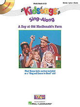A Day at Old MacDonald's Farm (Kidsongs Sing-Along). By Various. For flute, guitar, piano, C instruments (Book and CD pak). Big Note Songbook. Softcover with CD. 40 pages. Published by Together Again Video Productions.  Kidsongs Sing-Alongs videos and CDs have been a big hit with kids and parents. These new book/CD packs now give kids the pleasure of singing and playing along with their favorite songs! The books include melody/lyric/chord arrangements that can be played on any C instrument. The books also feature a separate lyrics section so kids can practice their reading skills while reading the lyrics and following along with the CD. The CDs include full-performances of each song by kids. This pack is a matching folio to their best-selling video with 18 all-time kids' classics, including: John Jacob Jingleheimer Schmitt • Mary Had a Little Lamb • Oh, Susanna • Old MacDonald Had a Farm • Skip to My Lou • Take Me Out to the Ball Game • This Old Man • Twinkle, Twinkle, Little Star • and more.