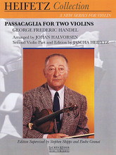 Handel - Passacaglia (for Two Violins). By George Frideric Handel. Arranged by Stephen Shipps. For Violin Duet. LKM Music. 12 pages.