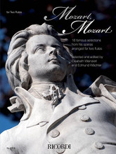 Mozart, Mozart (16 Selections from the Operas in Historic Arrangements for 2 Flutes). By Wolfgang Amadeus Mozart (1756-1791). Arranged by Various. For Flute Duet. Ricordi Germany. 40 pages.  Contents: What bliss, what joy (Welche Wonne, welche Lust) from The Abduction from the Seraglio • Who has found a sweetheart (Werein Liebchen hat gefunden) from The Abduction from the Seraglio • When the tears of joy flow (Wenn der Freude Tränen fliessen) from The Abduction from the Seraglio • You will frolic no more (Non più andrai) from The Marriage of Figaro • Oh, come, do not delay (Deh vieni non tardar) from The Marriage of Figaro • There we will join hands (Là ci darem la mano) from Don Giovanni • Beat me, handsome Masetto (Batti, batti, o bel Masetto) from Don Giovanni • Oh, come to the window (Deh vieni alla finestra) from Don Giovanni • Do not be bashful (Non siate ritrosi) from Così fan tutte • An aura of love (Un'aura amorosa) from Così fan tutte • Love is a little thief (È amore un ladroncello) from Così fan tutte o Who blindly believes (Chi ciecamente crede) from La clemenza di Tito • The Bird Catcher am I (Der Vogelfänger bin ich ja) from The Magic Flute • How strong is your magic (Wie stark ist nicht dein Zauberton) from The Magic Flute • A maiden or wife (Ein Mädchen oder Weibchen) from The Magic Flute.
