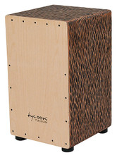 29 Series Chiseled Orange Cajon for Cajons. Tycoon. Tycoon Percussion #TKCO-29. Published by Tycoon Percussion.  Individually handmade and tested to ensure superior sound quality, this cajon has a Siam Oak body and a Beech frontplate. It produces deep, loud bass tones and high, sharp slap notes. Includes a snare adjusting Allen wrench.
