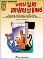 World Beat Grooves for Bass for Electric Bass. Bass Builders. Softcover with CD. Guitar tablature. 40 pages. Published by Hal Leonard.  This book profiles 18 distinct styles of world music. Each section includes performance notes, authentic-sounding bass lines written in tab and standard notation, and recommendations for further listening and reading. The accompanying CD features full-band demos of all 18 styles, including: bossa nova, calypso, mambo, maracatu, merengue, reggae, rumba, salsa, samba, ska, tango, tumbão, zydeco and more.