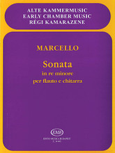 Sonata in D Minor, Op. 2, No. 2 by Benedetto Marcello (1686-1739). Arranged by Dániel Benkö and D. For Flute, Guitar. EMB. 8 pages. Editio Musica Budapest #Z14443. Published by Editio Musica Budapest.  Flute and guitar.