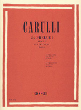 24 Preludes, Op. 114 (Guitar Solo). By F Carulli. Edited by Giuliano Balestra. For Guitar. Guitar Solo. 36 pages. Ricordi #ER2746. Published by Ricordi.