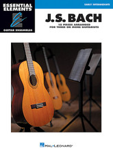 J.S. Bach - 15 Pieces Arranged for Three or More Guitarists (Essential Elements Guitar Ensembles Early Intermediate Level). By Johann Sebastian Bach (1685-1750). For Guitar Ensemble. Essential Elements Guitar. Softcover. 32 pages.  The songs in Hal Leonard's Essential Elements Guitar Ensembles series are playable by multiple guitars. Each arrangement features the melody (lead), a harmony part, and a bass line. Chord symbols are also provided if you wish to add a rhythm part. For groups with more than three or four guitars, the parts may be doubled. Play all of the parts together, or record some of the parts and play the remaining part along with the recording. All of the songs are printed on two facing pages; no page turns are required. This series is perfect for classroom guitar ensembles or other group guitar settings. This edition features 15 songs: Arioso • Bourree in E Minor • Gavotte • Jesu, Joy of Man's Desiring • Musette in D Major • Sheep May Safely Graze • Sleepers, Awake (Wachet Auf) • and more.