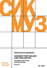 Concerto For Violin And Orchestra Study Score study Score. Softcover. 124 pages.