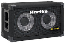 210XL Bass Cabinet (2 x 10 inch. AL / 200 watts / 8 ohms). For Bass. Hartke Equipment. General Merchandise. Hal Leonard #HCT210. Published by Hal Leonard.  Professionals choose the XL Series because of its carefully calibrated and tuned cabinet design and high quality aluminum-cone drivers. XLs produce a smooth response along with the clear, punchy attack that changed the sound of bass. Each cabinet is built tough with a shockproof metal grill, reinforced corners, recessed carry handles and a rugged covering.  210XLExpanded Hartke sound for smaller venues. A single chamber, sealed cabinet with two 10″ aluminum-cone bass drivers. Power handling is 200 watts at 8 ohms with a frequency response of 50 Hz to 5 kHz.