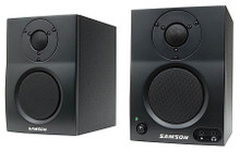 MediaOne BT3 (Active Studio Monitors with Bluetooth®). Samson Audio. General Merchandise. Hal Leonard #SAMBT3. Published by Hal Leonard.  Samson's MediaOne BT3 Active Studio Monitors are the ideal speakers for all your multimedia needs and feature the ability to connect to your smart phone, laptop or tablet via Bluetooth. Whether you're listening to music, producing tracks, watching videos or gaming, these monitors provide dynamic and reliable audio. MediaOne BT3 monitors feature the highest quality components, a stylish new look and are packaged as a stereo pair.