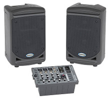 Expedition XP150 (150-Watt Portable PA). Samson Audio. General Merchandise. Samson Audio #SAXP150. Published by Samson Audio.   The Expedition XP150 offers a PA solution that combines powerful stereo sound with portability and simplicity. With its clever design, the XP150 packs up into a single unit that weighs only 24 pounds. Perfect for schools, conferences and presentations, as well as musicians and singer-songwriters, the XP150 is the ultimate in portable sound.