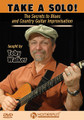 """Take a Solo! - The Secrets to Blues and Country Guitar Improvisation by Toby Walker. For Guitar. Homespun Tapes. DVD. Homespun #DVDWKRS021. Published by Homespun.  Toby Walker unlocks the mysteries of blues and country guitar soloing. He shows players at all levels how to come up with powerful and compelling improvisations in any key and in any position, eliminating the robotic scales and patterns that many players fall into. Adding the """"wasabi"""" – vibrato, bends and other techniques – adds hot spice to any lead solo. Early intermediate level. 1 hr., 35 min."""