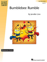 "Bumblebee Rumble (Hal Leonard Student Piano Library Showcase Solo Level 3/Late Elementary). Composed by Jennifer Linn. For Piano/Keyboard. Educational Piano Library. Late Elementary. 4 pages.  Create a ""buzz"" at the next recital with this showstopper! The alternating patterns between the hands create an exciting sound that is easy for students to play. A real dazzler for students who love to play fast!"