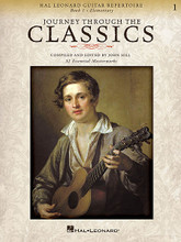 Journey Through the Classics: Book 1 (Hal Leonard Guitar Repertoire). Composed by Various. Arranged by John Hill. For Guitar. Guitar Solo. Softcover. Guitar tablature. 48 pages. Published by Hal Leonard.  Journey Through the Classics is a classical guitar repertoire folio designed to lead students seamlessly from the earliest classics to the intermediate masterworks. The 32 graded pieces are presented in a progressive order and feature a variety of traditional folk songs and classical favorites essential to any guitar student's educational foundation. The pieces are written in standard notation and tab, and include right and left hand fingerings. The authentic repertoire is ideal for auditions and recitals and is a perfect companion to any classical guitar method.