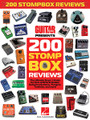 Guitar World Presents 200 Stompbox Reviews for Guitar. Guitar Book. Softcover. 304 pages. Published by Hal Leonard.  200 stompbox reviews from the pages of Guitar World magazine! The ultimate buyer's guide for fans of distortion pedals, wah pedals, tuners, overdrive pedals, switching systems, flangers, fuzz pedals, tremolos and more! This awesome collection features the Electro-Harmonix English Muffin • Dunlop Cry Baby SW-95 Slash wah • DigiTech Scott Ian Black-13 Artist Series pedal • Coffin Case Bat Fuzz Pedal • Way Huge Aqua Puss MkII analog delay pedal • MXR Super Badass Distortion • and many more!