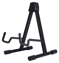 Acoustic and Electric A-Frame Guitar Stand Hamilton Stands. Hal Leonard #KB5000G. Published by Hal Leonard.  The unique arm design on this stand accepts either acoustic or electric guitars. It features foam cushions on the arms and a friction lock for open and closed positions.