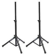 SP50P (Speaker Stand Set). Samson Audio. General Merchandise. Published by Samson Audio.  Samson's SP50P Speaker Stand Set raises your music to where audiences can enjoy it to the fullest. This pair of lightweight, telescoping tripod speaker stands features a roadworthy, aluminum-constructed design with a sleek black finish. With their standard 1-3/8″ pole adapters, the SP50P stands fit virtually all PA speakers. Adjustable up to 6' in height, these stands can handle enclosures that weigh up to 110 pounds (50kg) and each has a locking latch for increased support.